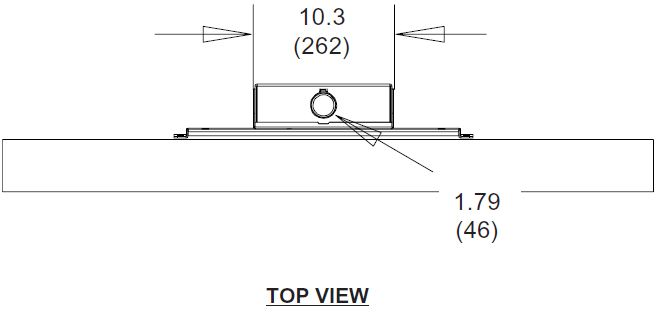 Peerless PLCM2 Straight Column Ceiling Mount