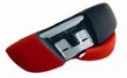 Trackbar Emotion TBE2008 Ergonomic Mouse with removable microbiologicallly cleanable Red cover