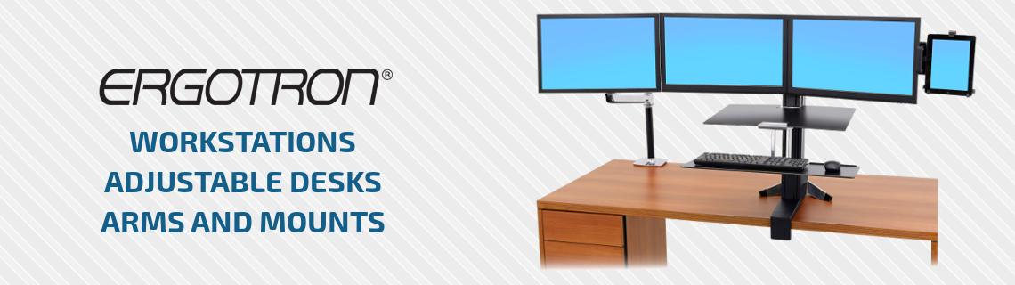 Ergotron workstations, adjustable desks, arms and mounts