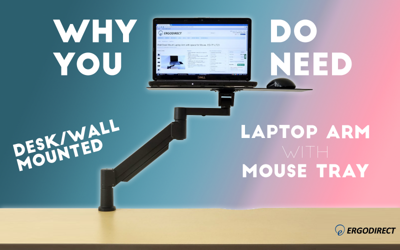 Desk Wall Mounted Laptop Arm with Mouse Tray