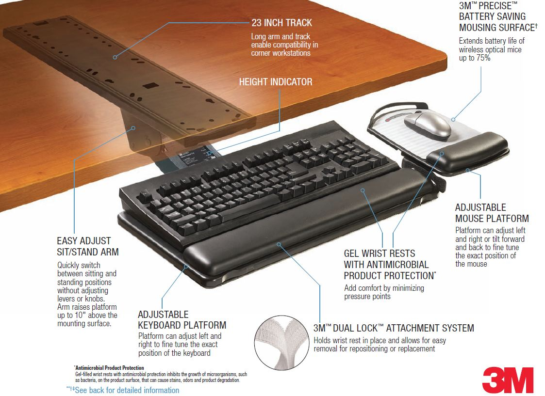 Comfort Keyboard Tray Fully Adjustable on sale