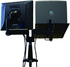 Chief KGL220 Desk Mount Height Adjustable Dual LCD Monitor or Laptop Arm