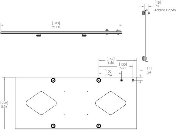 Chief MSB-6015 Display Mounting Bracket