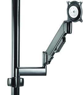 Chief KPG110B or KPG110S Pole Mount Height Adjustable Dual Swing Arm LCD for Laptop or Flat Panel