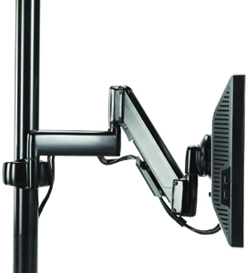 Chief KPG110 Pole Mount Flat Panel Height Adjustable Dual Swing LCD Arm