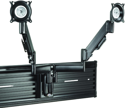 Chief KSY220B Universal Slat Wall Height-Adjustable Dual Monitor Mount