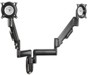 Chief KWY220S or KWY220B Dual Wall Mount Height Adjustable LCD Monitor Arm