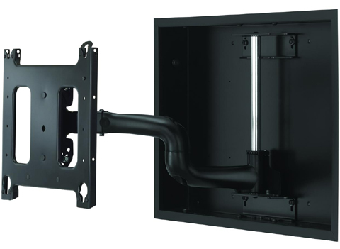 Chief PWRIW2000 Large In-Wall Swing Arm Wall Mount Black