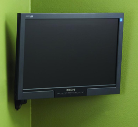 Chief FWD110B Wall Mount Flat Panel Dual Swing LCD Arm Black