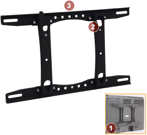 Chief MSRV Universal Fixed Wall Mount for 26 to 40 inch Flat Panel Displays