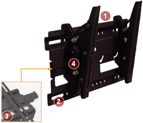 Chief RMT1 Medium Flat Panel Universal Tilt Wall Mount