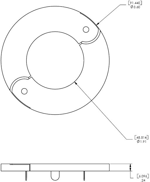 Technical Drawing for Chief CMA640 Decorative Ring
