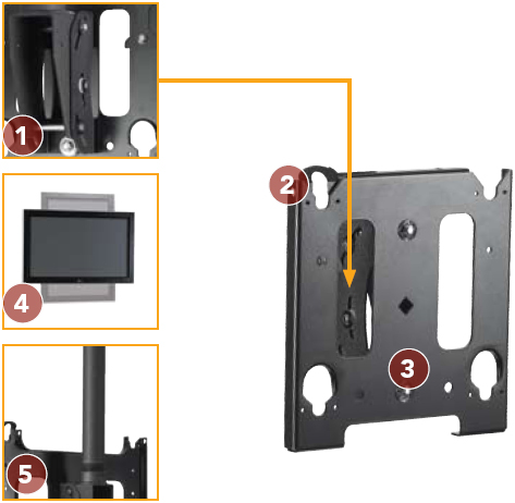 Chief MCSV Universal Single Ceiling Mount for Flat Panel Displays