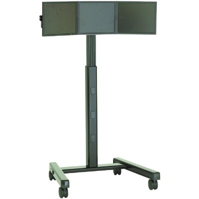 chief kfa320b triple monitor cartstand accessory
