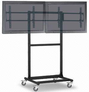 "Cotytech CT-OS37 Adjustable Ergonomic Mobile Dual TV Cart for 32""-46"" Flat Panel Displays"