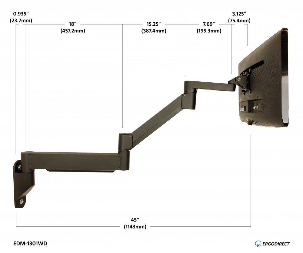 Long Reach Wall Mounted Laptop Arm Arm Designs
