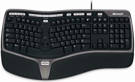 Microsoft B2M-00012 Natural Comfortable Ergonomic Keyboard 4000