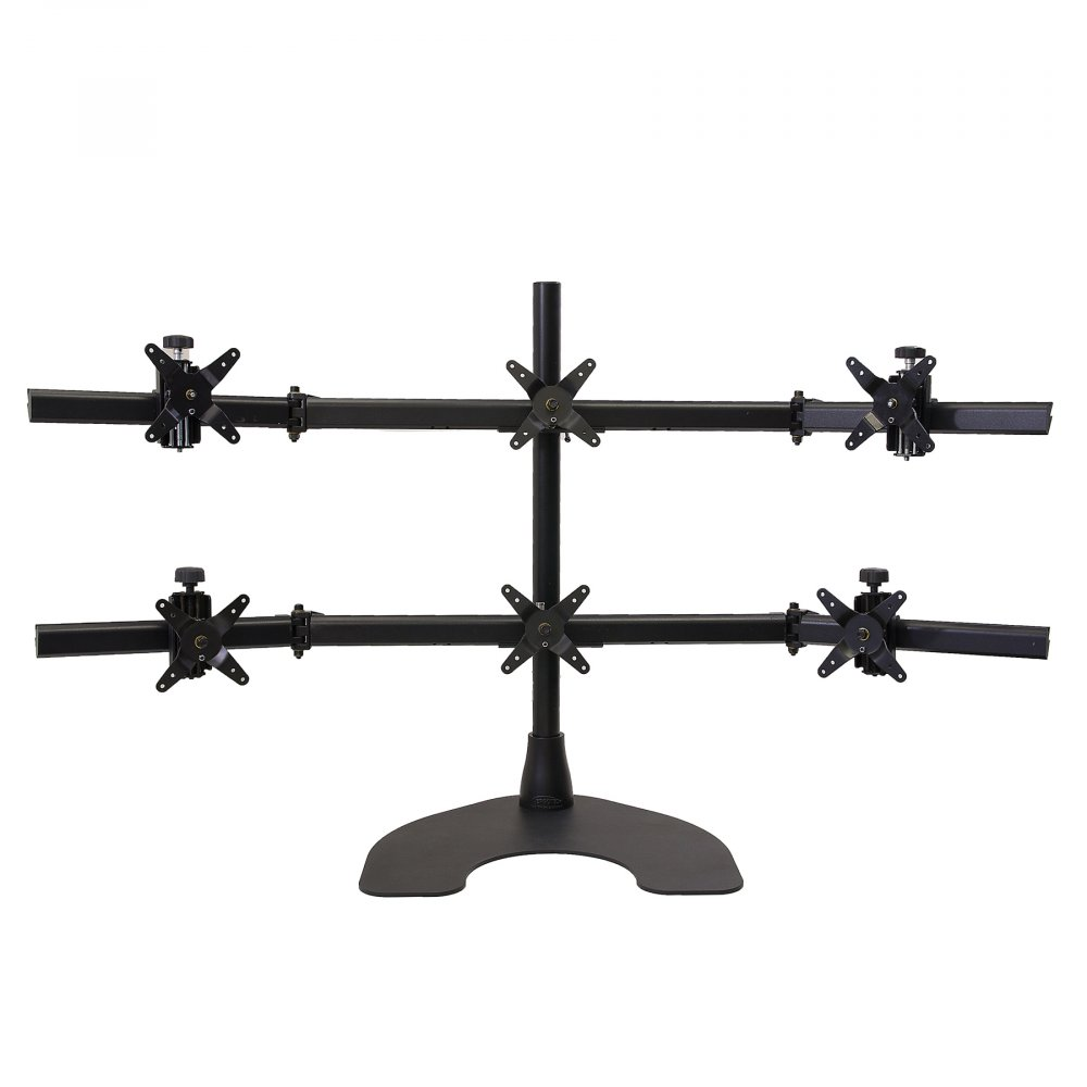 Ergotech 100-D28-B33 Hex LCD Monitor (3 over 3) Desk Stand