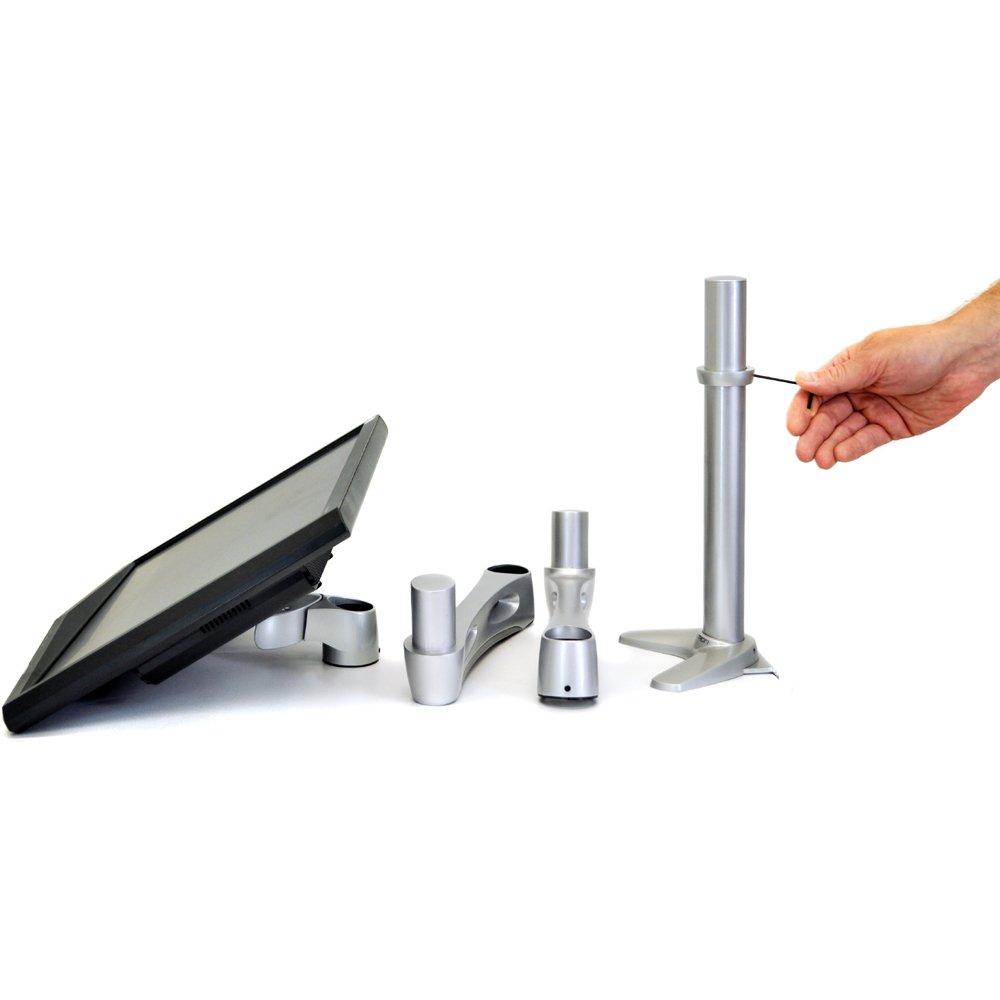 Ergotron Neo-Flex Extend Desk Mount Pivoting LCD Monitor Arm Assembly VESA