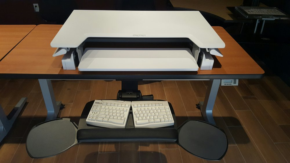 Workfit T With A Keyboard Tray For Typing Comfort In Sitting Position