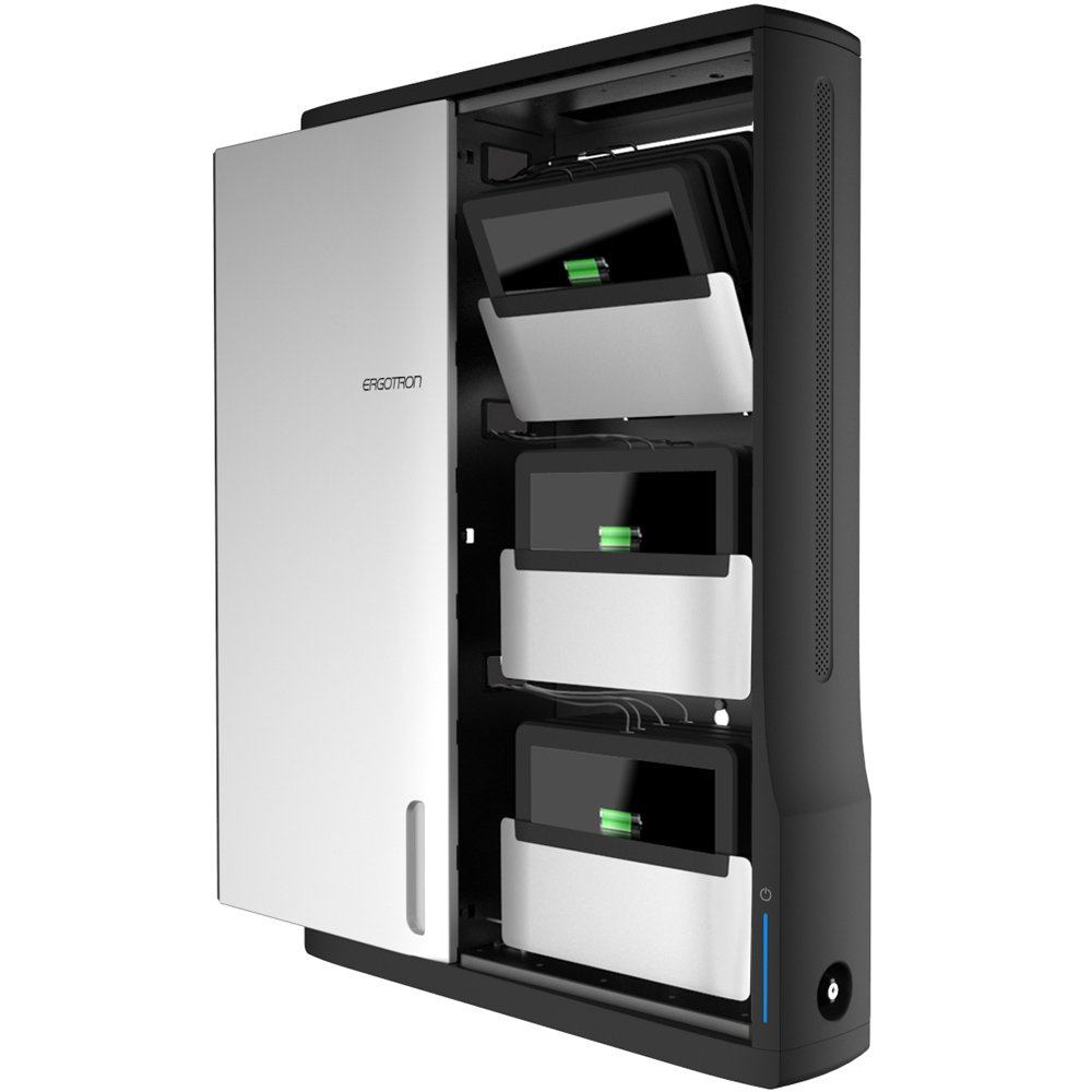 Superior Ergotron DM12 1006 1 Zip12 Charging Wall Mount Storage Cabinet