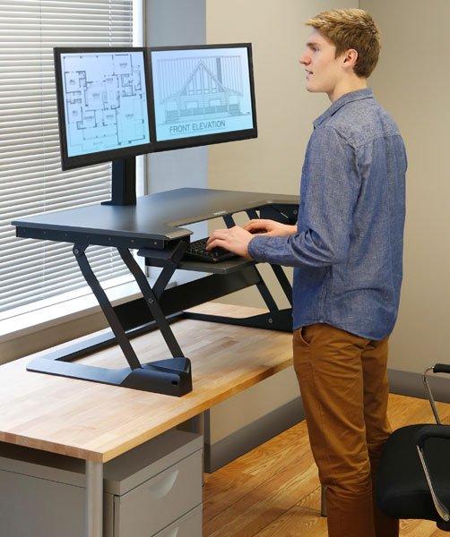 Ergotron 33 406 085 Workfit Tl Desktop Sit Stand Workstation