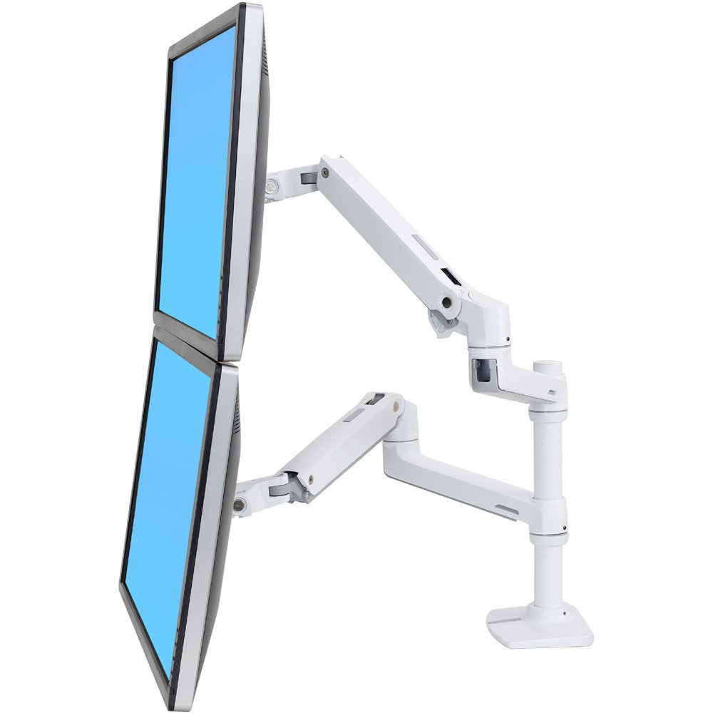 ergotron 45 492 216 lx dual monitor arm stacking