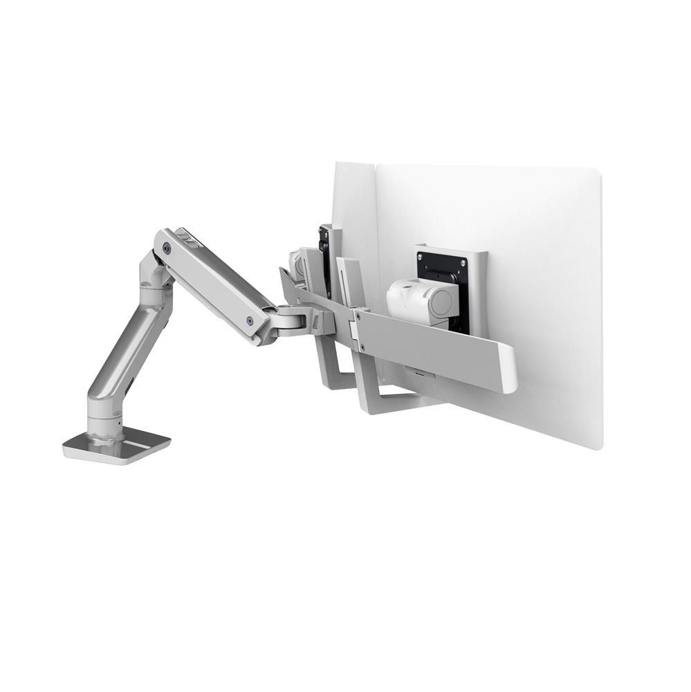 45476026 HX Desk Mount Dual Monitor Arm polished aluminum