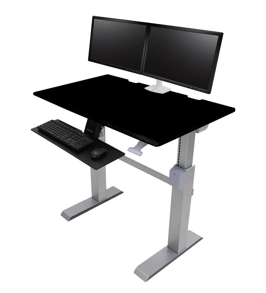 24567F03 WorkFitDL 48 SitStand Desk Black