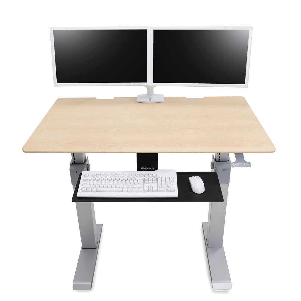 24567F13 WorkFitDL 48 SitStand Desk Maple