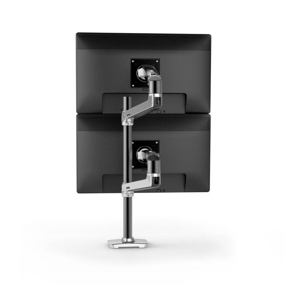 ergotron 45 549 026 lx tall pole dual stacking arm polished aluminum