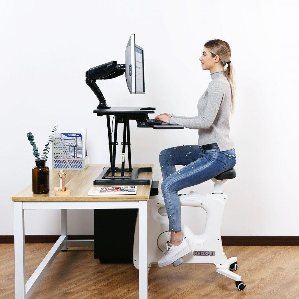 Flexispot AlcoveRiser Electric Desktop Workstation - EM7MB