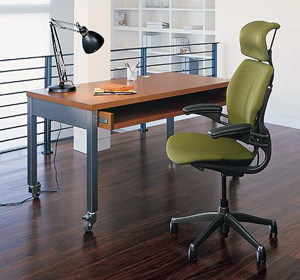 Application of Humanscale Freedom Task Chair with headrest