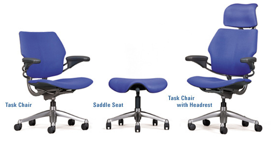 Humanscale Freedom Task Chair with/without headrest and saddle seat