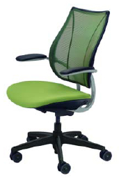 Humanscale Liberty Task or Conference Chair - Black Base - Silver Frame - Black Trim