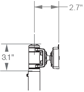 M7 Non-Adjustable Arm, No-Link (Ball Joint only)