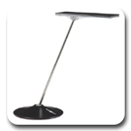 Humanscale Horizon HNB 8-Watt Thin Wave LED Task Light with Dimmer, Base Style
