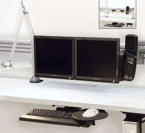 Application of Humanscale Monitor Arms