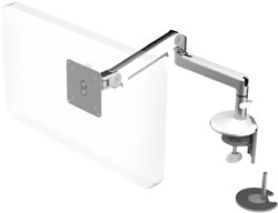 Humanscale M2 Arm with Dual Mount Clamp and Blot Through, Fixed Straight Link/Dynamic Link and White