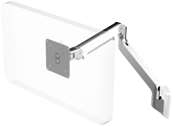 Humanscale M2 Arm with Direct Hard Wall Mount, Fixed Angled Link/Dynamic Link and white