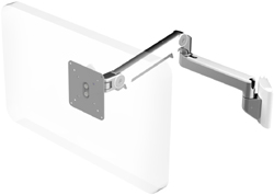 Humanscale M2 Arm with Direct Hard Wall Mount, Fixed Straight Link/Dynamic Link and White
