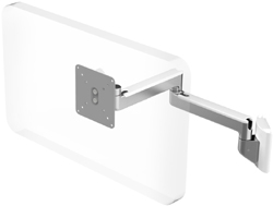Humanscale M2 Arm with Direct Hard Wall Mount, Fixed Straight Link/Fixed Straight Link and White