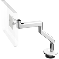 Humanscale M8 Arm with Bolt Through Mount with Base, Fixed Angled Link/Fixed Straight Link and White