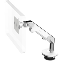Humanscale M8 Arm with Bolt Through Mount with Base, Dynamic Link only and White