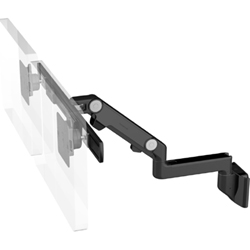 Humanscale M8 Dual Arm with Direct Hardwall Mount, Fixed Straight Link/Dynamic Link and Black