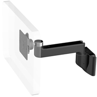 Humanscale M8 Arm with Direct Hardwall Mount, Straight Link only and Black