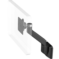 Humanscale M8 Arm with Direct Hardwall Mount, Fixed Angle Link only and Black