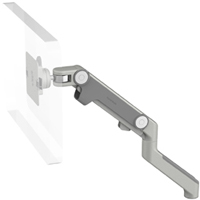 Humanscale M8 Arm with No Mount, Fixed Angled Link/Dynamic Link and Silver