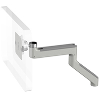 Humanscale M8 Arm with No Mount, Fixed Angled Link/ Fixed Straight Link and Silver