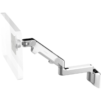 Humanscale M8 Arm with Universal Slatwall Mount, Fixed Straight Link/Dynamic Link and White
